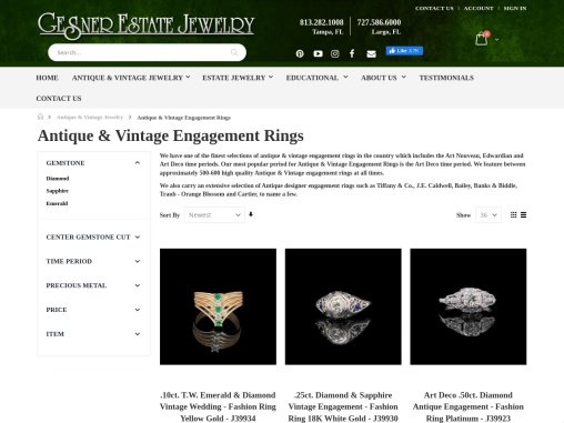 Antique Engagement Rings   Vintage Engagement Rings