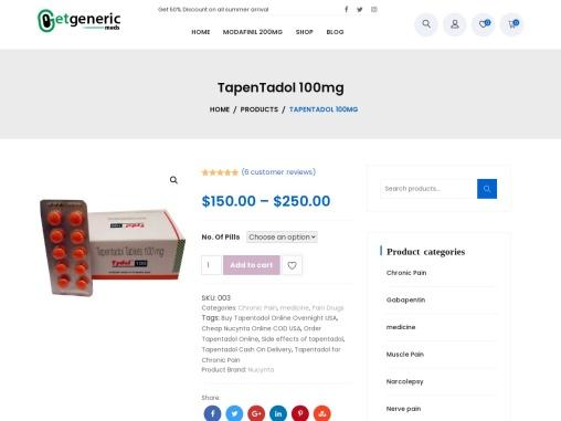Buy Genuine Tapentadol Online USA   Cheap Nucynta Online COD USA