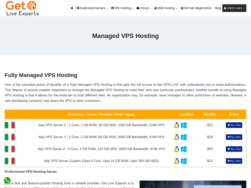 Powerful Managed VPS Hosting Plans