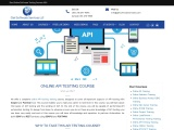 Online API Testing Beginners Training – Learn how to Automate API Testing with Real Time Experience