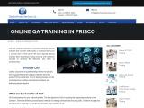Online QA Training in Frisco – Get Software Services