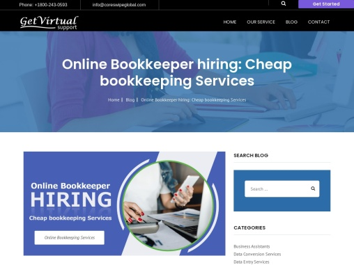 Online Bookkeeper hiring: Cheap bookkeeping Services