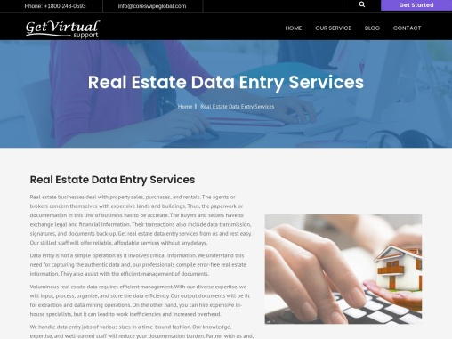 Real Estate Data Entry Services | Data Scanning Services