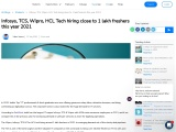Infosys, TCS, Wipro, HCL Tech hiring close to 1 lakh freshers this year 2021
