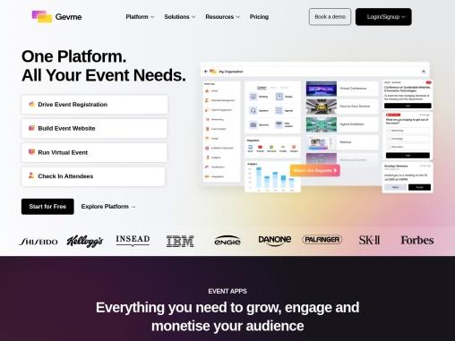 A Powerful Next-Generation Virtual Events Platform – GEVME