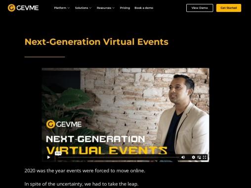 Next Generation Virtual Events – GEVME