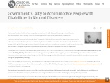People with Disabilities in Natural Disasters | Gilsoul LLC
