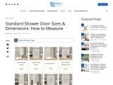 How to Measure Shower Door Size of Your Needs?