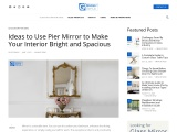 Ideas to Use Pier Mirror to Make Your Interior Bright and Spacious
