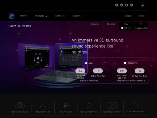 Boom3D – Best Volume & Audio booster App for Mac and Windows