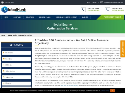 Professional SEO Services India