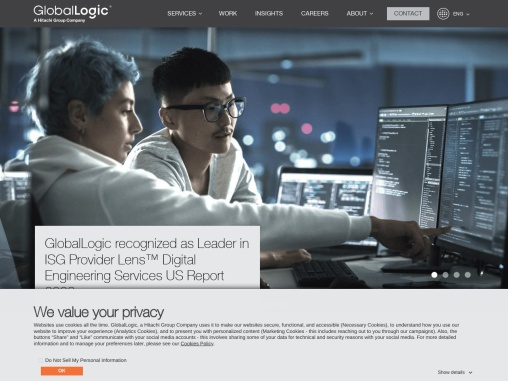 GlobalLogic focuses on providing assimilating experience design and complex engineering