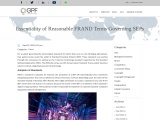 Standard Essential Patents and the Reasonable FRAND Terms