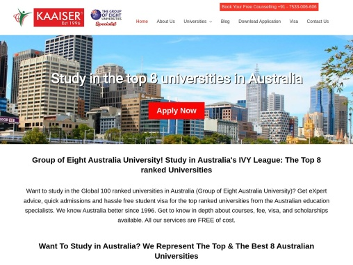 Want to Study in Australia – The Group of Eight University