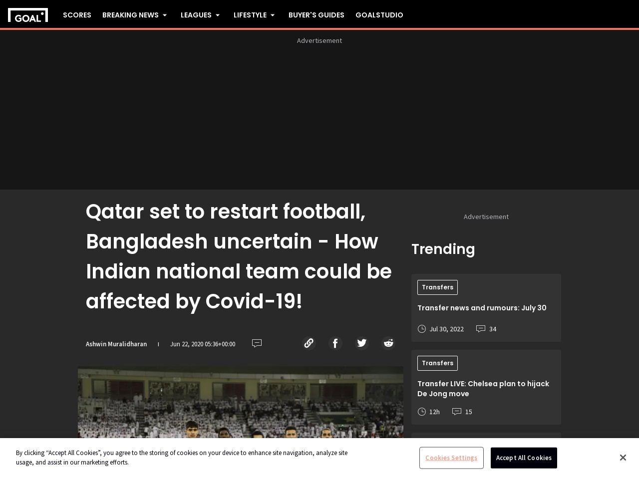 Qatar set to restart football, Bangladesh uncertain – How Indian national team could be affected by…