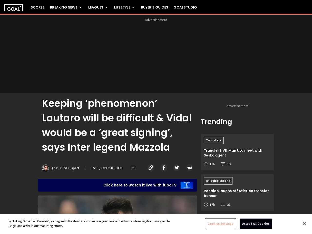 Keeping 'phenomenon' Lautaro will be difficult & Vidal would be a…