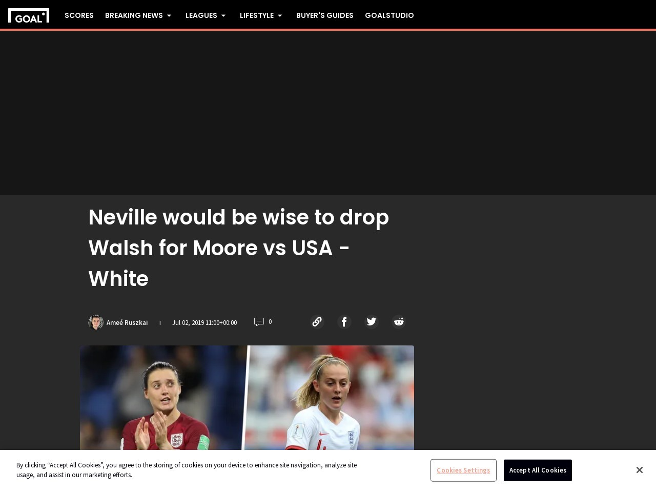 England vs USWNT: 'Phil Neville would be wise to drop Keira Walsh for…