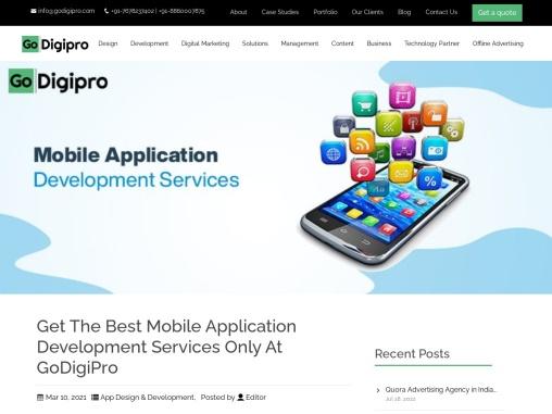 Mobile application development services in Delhi