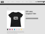 Ladies Scoop Neck T-Shirt | Camera god