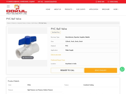 PVC Ball Valve Manufacturers in India