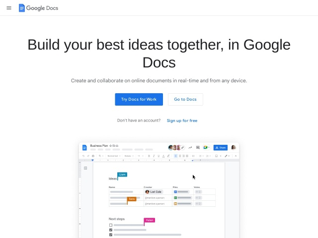 Google Docs – create and edit documents online, for free.