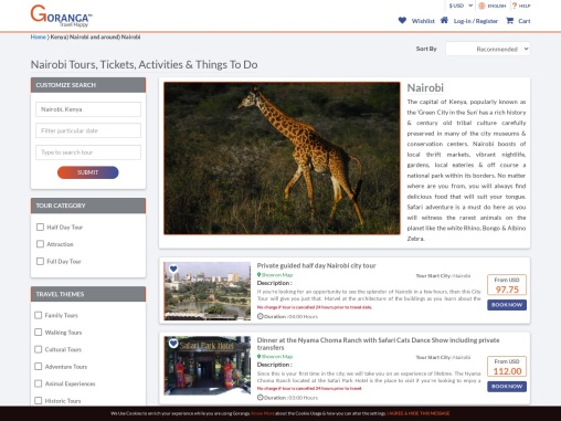 Book amazing offers for Nairobi tour