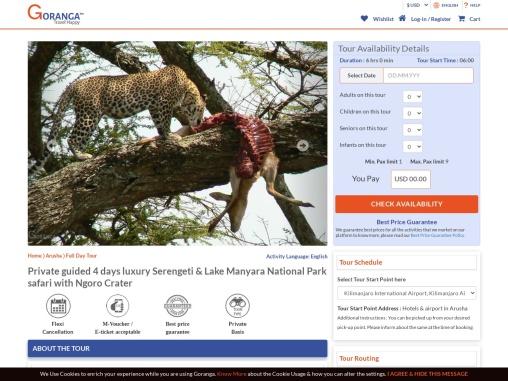 Book private guided Serengeti & Lake Manyara National Park safari tour