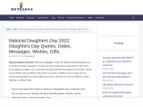 Daughters Day Quotes, Dates, Messages, Wishes, Gifts