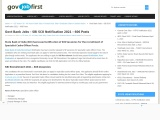 SBI SCO Notification 2021 – 606 Posts