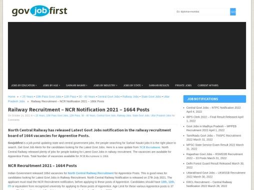 Railway Recruitment – NCR Notification 2021