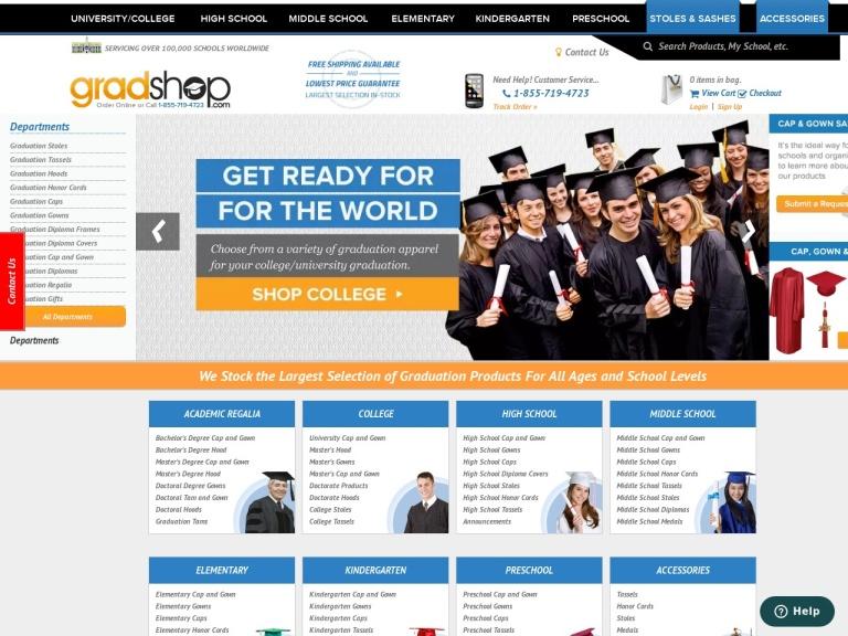 GradShop screenshot