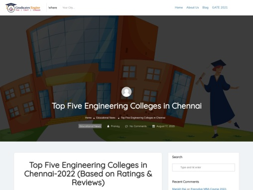 Top Five Engineering Colleges in Chennai