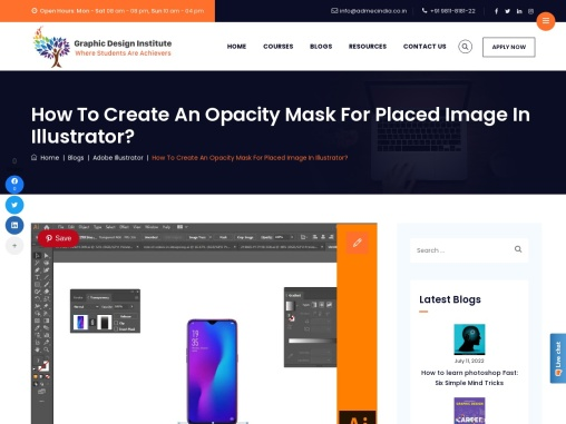 How to Create an Opacity Mask for Placed Image in Illustrator?