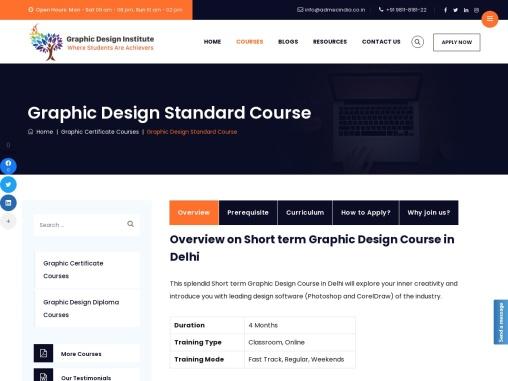 Graphic Design Classes in Delhi