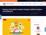 Factors that Make Graphic Design Institute Unique and Different