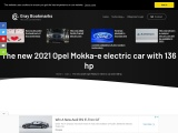 The new 2021 Opel Mokka-e electric car with 136 hp