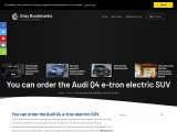 You can order the Audi Q4 e-tron electric SUV