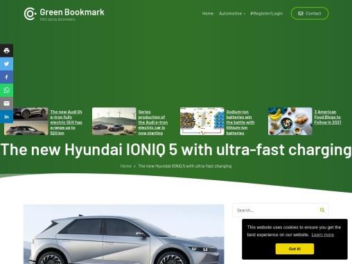 The new Hyundai IONIQ 5 electric crossover