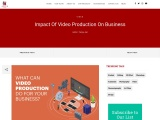 Impact Of Video Production On Business