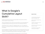 WHAT IS GOOGLE'S CUMULATIVE LAYOUT SHIFT?