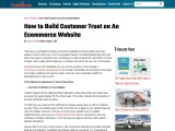 How to Build Customer Trust on An Ecommerce Website