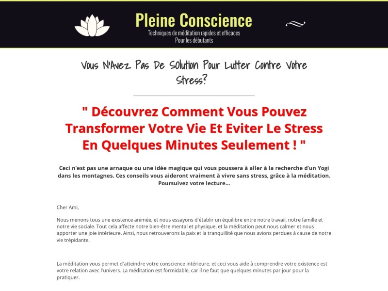 guide meditation pleine conscience