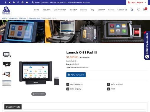 Launch X431 Pad III Scan Tool Supplier