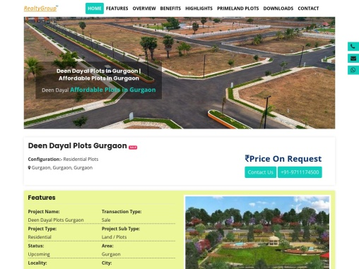 Deen Dayal Plots in Gurgaon, Affordable Plots in Gurgaon
