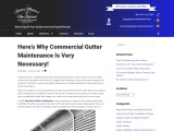 Here's Why Commercial Gutter Maintenance Is Very Necessary!