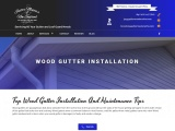Wood Gutter Repair Services in Boston