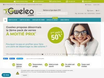 Gweleo, votre opticien en ligne, lunettes moins cher