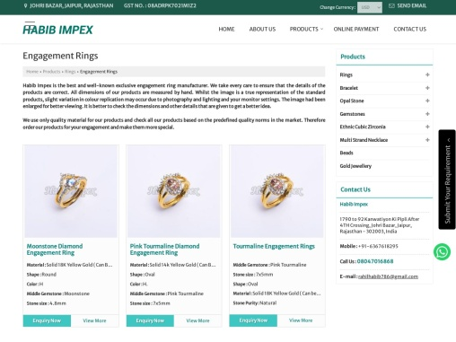 Exclusive Engagement Ring Manufacturer