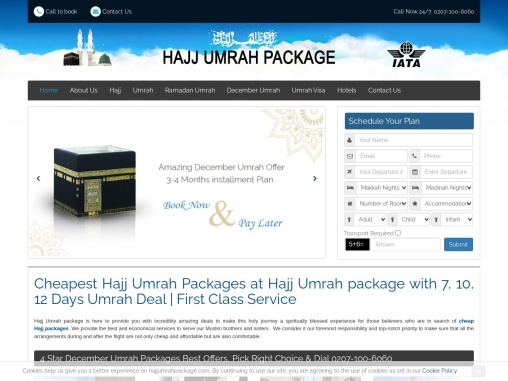 cheap hajj and umrah packages for UK