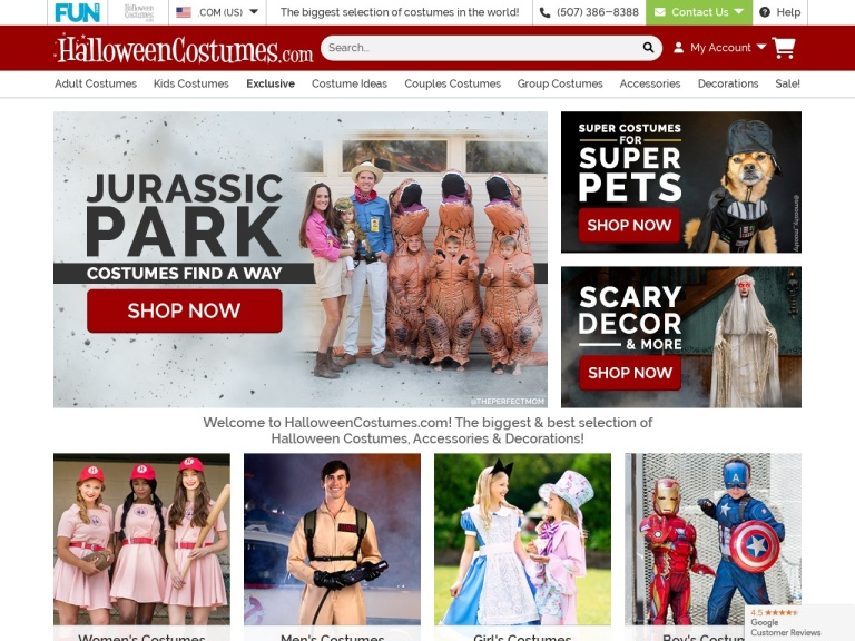 Halloweencostumes.com screenshot